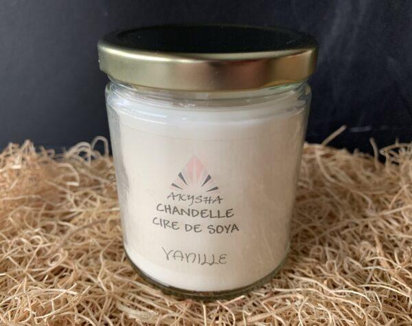 Chandelle de cire de soya - Vanille
